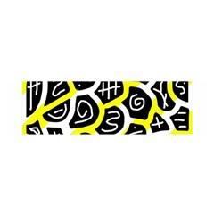 Yellow playful design Satin Scarf (Oblong)