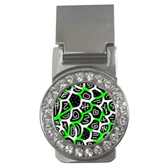 Green playful design Money Clips (CZ)