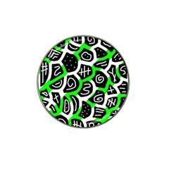Green playful design Hat Clip Ball Marker (4 pack)