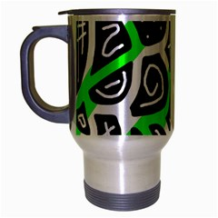 Green playful design Travel Mug (Silver Gray)