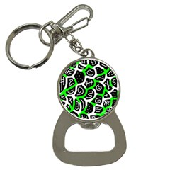 Green playful design Bottle Opener Key Chains