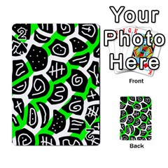 Green playful design Playing Cards 54 Designs