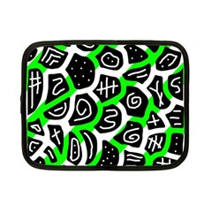 Green playful design Netbook Case (Small)