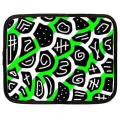 Green playful design Netbook Case (Large)