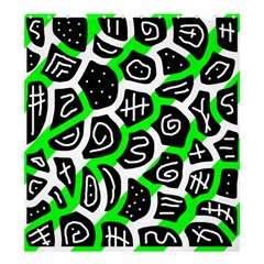 Green playful design Shower Curtain 66  x 72  (Large)