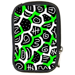 Green playful design Compact Camera Cases