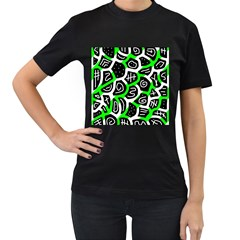 Green playful design Women s T-Shirt (Black)