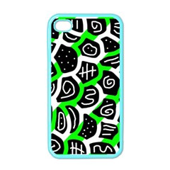 Green playful design Apple iPhone 4 Case (Color)