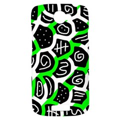 Green playful design HTC One S Hardshell Case