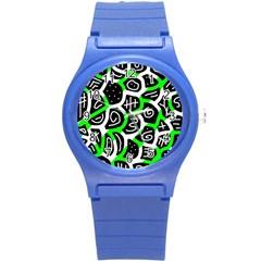 Green playful design Round Plastic Sport Watch (S)