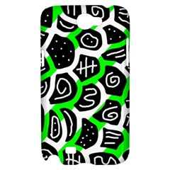 Green playful design Samsung Galaxy Note 2 Hardshell Case