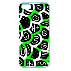 Green playful design Apple Seamless iPhone 5 Case (Color)