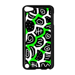 Green playful design Apple iPod Touch 5 Case (Black)
