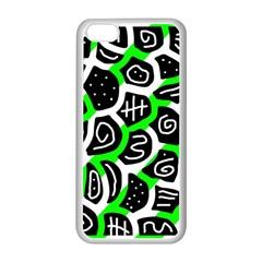 Green playful design Apple iPhone 5C Seamless Case (White)