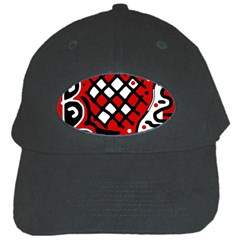 Red high art abstraction Black Cap
