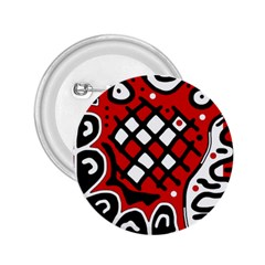 Red high art abstraction 2.25  Buttons