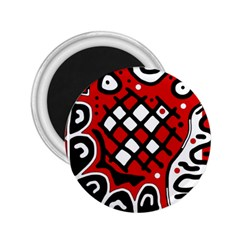 Red high art abstraction 2.25  Magnets