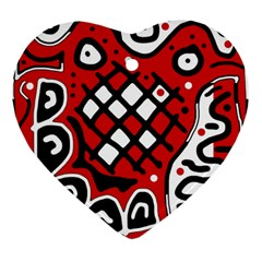 Red high art abstraction Ornament (Heart)