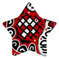 Red high art abstraction Ornament (Star)