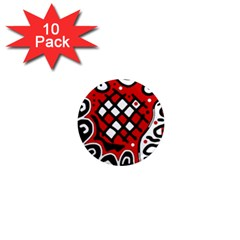Red high art abstraction 1  Mini Magnet (10 pack)
