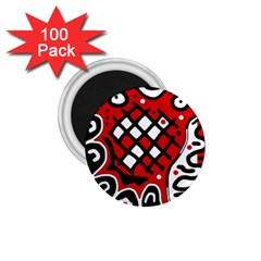 Red high art abstraction 1.75  Magnets (100 pack)