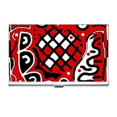 Red high art abstraction Business Card Holders