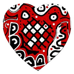 Red high art abstraction Jigsaw Puzzle (Heart)