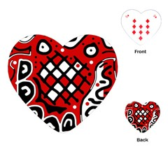 Red high art abstraction Playing Cards (Heart)