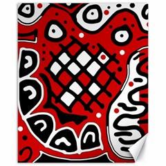 Red high art abstraction Canvas 16  x 20