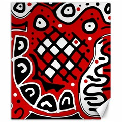Red high art abstraction Canvas 20  x 24
