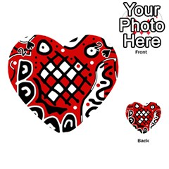 Red high art abstraction Playing Cards 54 (Heart)