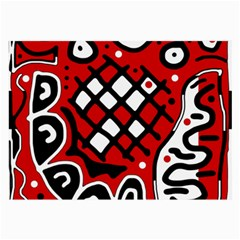 Red high art abstraction Large Glasses Cloth (2-Side)