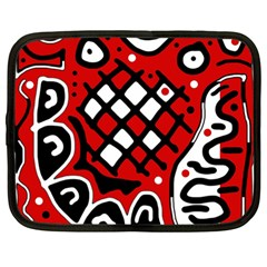 Red high art abstraction Netbook Case (Large)