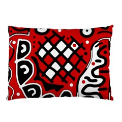 Red high art abstraction Pillow Case