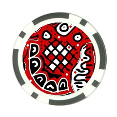 Red high art abstraction Poker Chip Card Guards (10 pack)