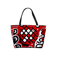 Red high art abstraction Shoulder Handbags