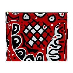 Red high art abstraction Cosmetic Bag (XL)