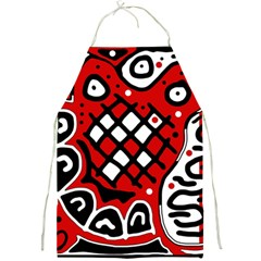 Red high art abstraction Full Print Aprons