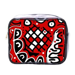 Red high art abstraction Mini Toiletries Bags