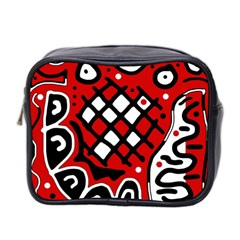 Red high art abstraction Mini Toiletries Bag 2-Side