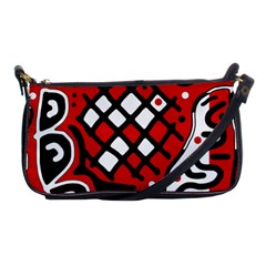 Red high art abstraction Shoulder Clutch Bags