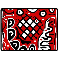 Red high art abstraction Fleece Blanket (Large)