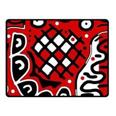 Red high art abstraction Fleece Blanket (Small)