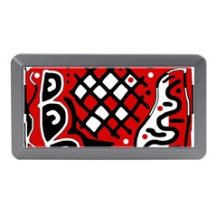 Red high art abstraction Memory Card Reader (Mini)