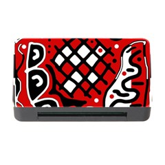 Red high art abstraction Memory Card Reader with CF