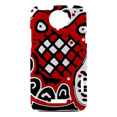 Red high art abstraction HTC One X Hardshell Case