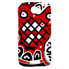 Red high art abstraction HTC One S Hardshell Case