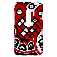 Red high art abstraction HTC Evo 3D Hardshell Case