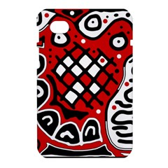Red high art abstraction Samsung Galaxy Tab 7  P1000 Hardshell Case