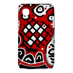 Red high art abstraction Samsung Galaxy SL i9003 Hardshell Case